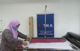 TİKA'dan Kırgızistan'da kadın istihdamına...