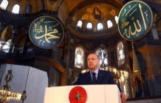 Cumhurbaşkanı Erdoğan, Ayasofya'nın ibadete...