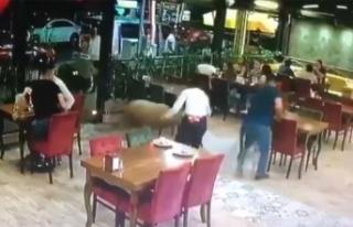 Sahibinin elinden kaçan kurbanlık koçun restorana...