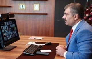 Sağlık Bakanı Koca il sağlık müdürleriyle video...