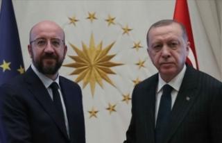 Cumhurbaşkanı Erdoğan AB Konseyi Başkanı Michel...