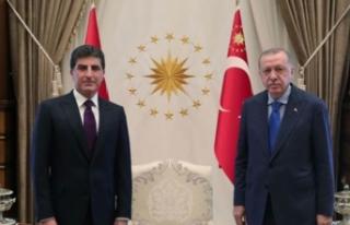 Cumhurbaşkanı Erdoğan, IKBY Başkanı Barzani'yi...