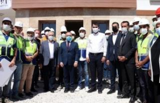 Elazığ'da depremzedeler için inşa edilen...