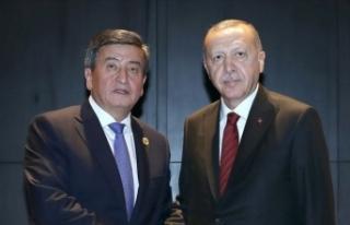 Erdoğan Kırgızistan Cumhurbaşkanı Ceenbekov ile...