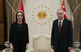 Erdoğan, Parlamentolararası Birlik Başkanı Gabriela...