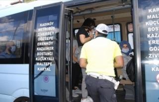 İstanbul'da minibüslerde ayakta yolcu denetimi