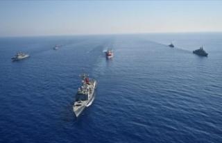 Karadeniz ve Doğu Akdeniz'deki görevli gemilere...