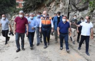 Ulaştırma ve Altyapı Bakanı Karaismailoğlu, Espiye'de...