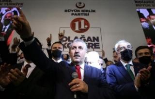 BBP'de Mustafa Destici yeniden genel başkan