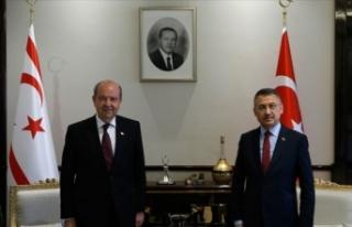 Cumhurbaşkanı Yardımcısı Oktay da Ersin Tatar'ı...