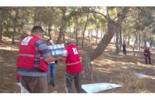 Kızılay'dan Hatay'daki yangında beslenme desteği