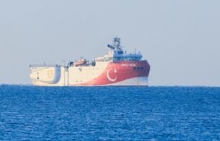 Oruç Reis gemisi hareket etti