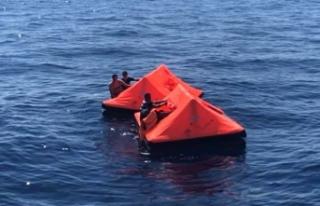 Türk kara sularına bırakılan sığınmacılar...