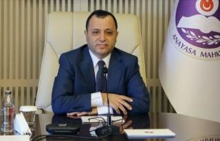 Anayasa Mahkemesi Başkanı Arslan: Karantinada olmaması...
