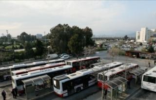 İzmir'de toplu ulaşım Kovid-19 tedbirleri...