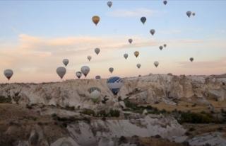 Kapadokya'ya gelen turist sayısı rekor kırdı