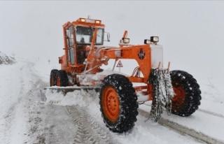 Kar ve tipi nedeniyle 25 köy yolu ulaşıma kapandı