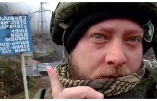 Şuşa'da Türk bayrağını gören Rus gazeteci...