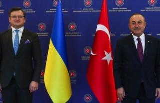 Bakan Çavuşoğlu Ukrayna Dışişleri Bakanı Kuleba...