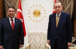 Cumhurbaşkanı Erdoğan KKTC Başbakanı Saner'i...