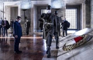 Ersan Saner Anıtkabir'de