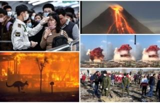 'Felaketler yılı' 2020'yi özetleyen...