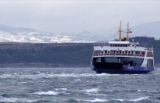 Fırtına nedeniyle yarınki bazı feribot seferleri...