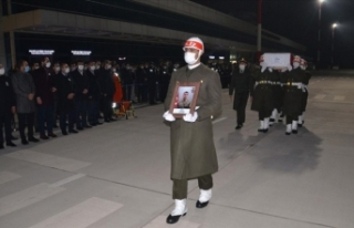 Hakkari'de şehit olan askerin cenazesi Kahramanmaraş'a...
