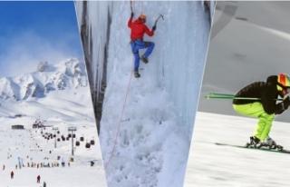 Kış turizminin gözdesi Erzurum'da buz ve kış...