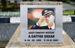Bakan Soylu şehit emniyet müdürü Gaffar Okkan'ı...