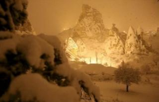 Kar, Kapadokya'yı bu hale getirdi