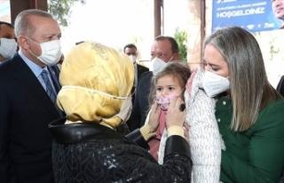 Erdoğan çiftinden Ayda bebeğe ziyaret