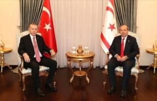 Erdoğan Ersin Tatar ile görüştü