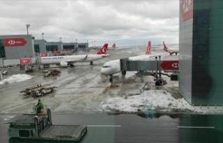 İstanbul Havalimanı'nda de-icing işlemi