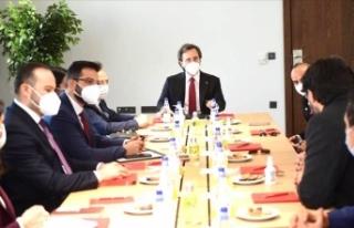 Türki Lala ekibi Fahrettin Altun'la görüştü