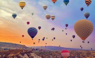 Kapadokya'da sıcak hava balon turuna hava engeli