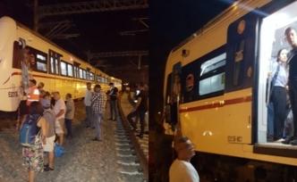 İzmir'e giden tren raydan çıktı
