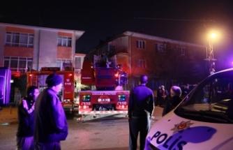Ankara'da 8 katlı binada yangın