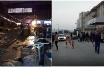 İzmir'de istinat duvarı çöktü, işçiler altında kaldı