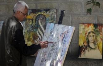 Mülteci ressamın fırçasından Yemen'in acıları