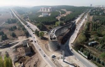 Başkent trafiğini rahatlatacak yol çalışmaları son etapta