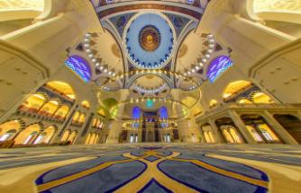Çamlıca Camii'nin kubbesindeki 'fetih' ayrıntısı