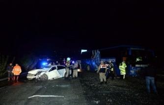 Erbaaspor takım otobüsü kaza yaptı: 1 ölü