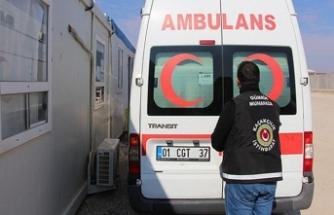 Suriye'den dönen ambulansa operasyon