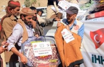 İHH Yemenli bin 150 aileye kış yardımı yaptı