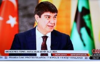Menderes Türel CNN Türk'ün konuğu oldu