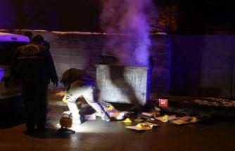 Yakılmak istenen resmi belgelere polis el koydu