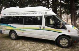 TİKA'dan Gürcistan'a servis aracı
