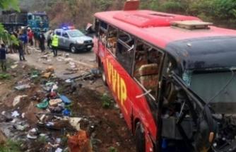 Korkunç kaza! İki otobüs çarpıştı: En az 50 ölü