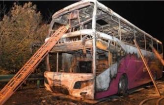 Yolcu otobüsü birden alev aldı: 26 ölü